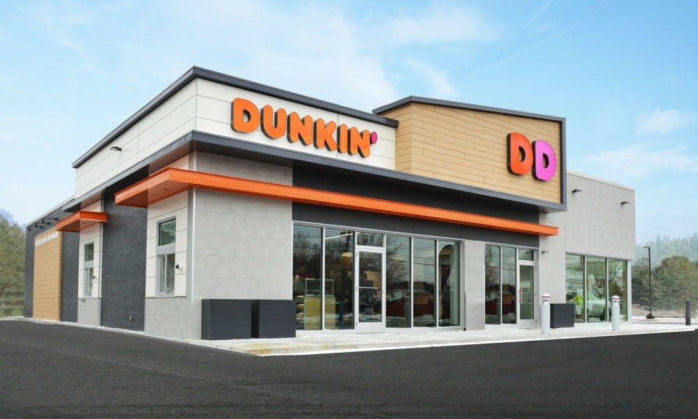 Egy Dunkin 'Donuts étterem.