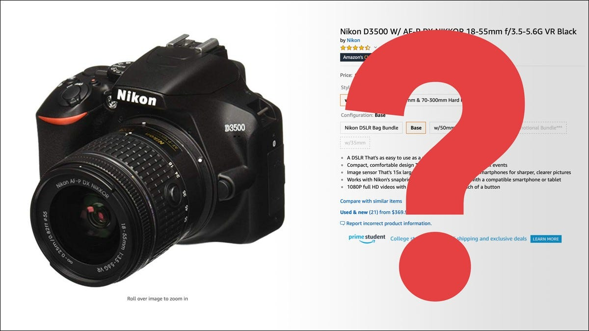 website selling Nikon camera