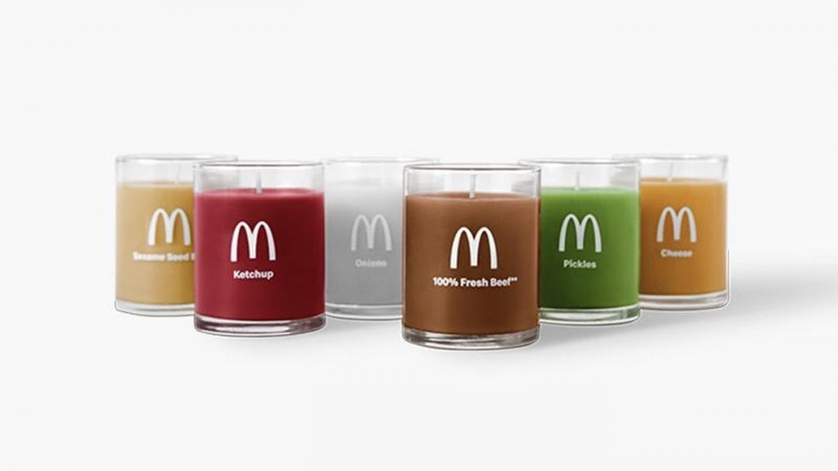 mcdonalds candles