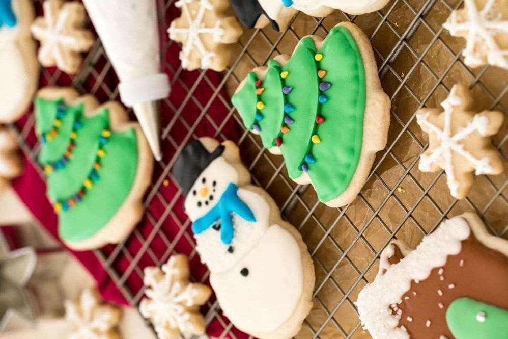 royal icing frosted cookies
