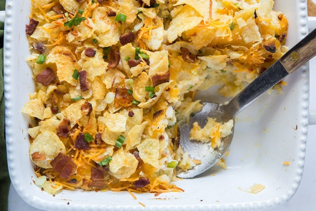 twice baked potato chip casserole