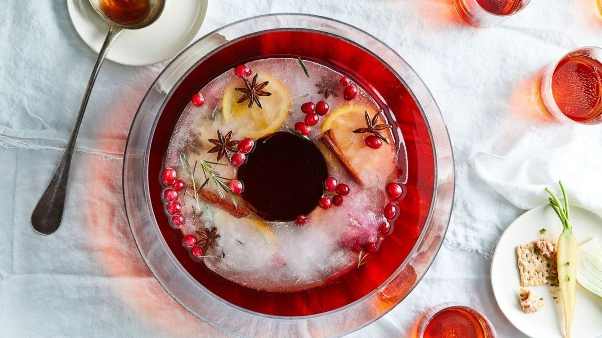 delicious bowl of holiday punch