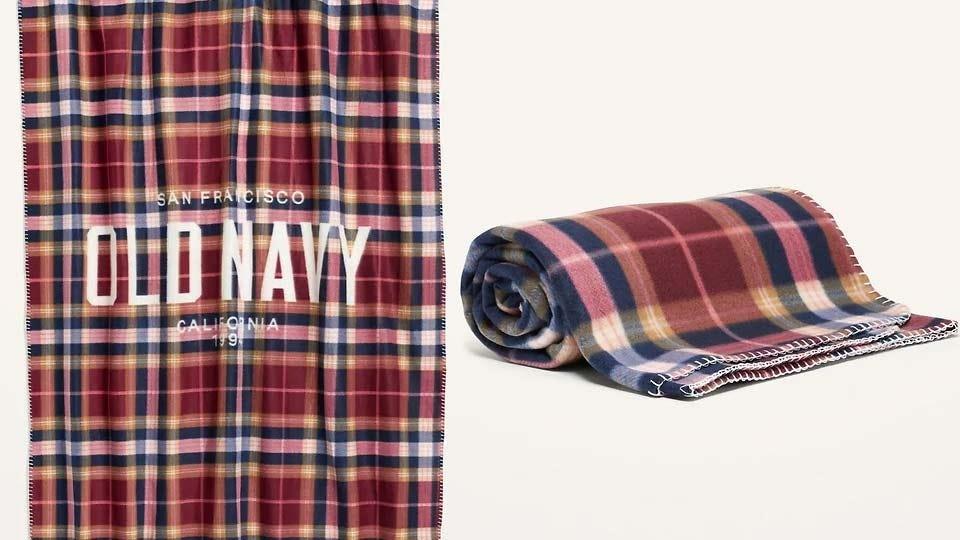 Old Navy's new fleece blanket.