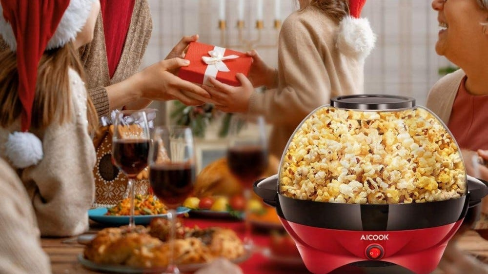 Family time will be even better with fresh popped popcorn from this oil popper.