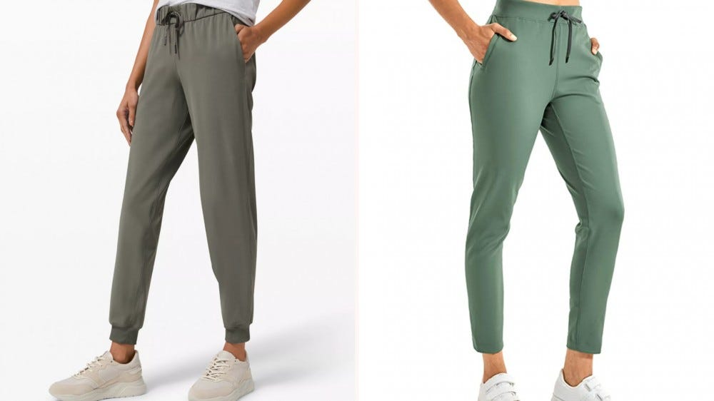 two green joggers next to each other