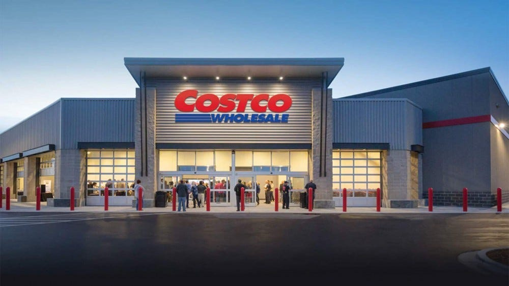 Exterior of a Costco store.