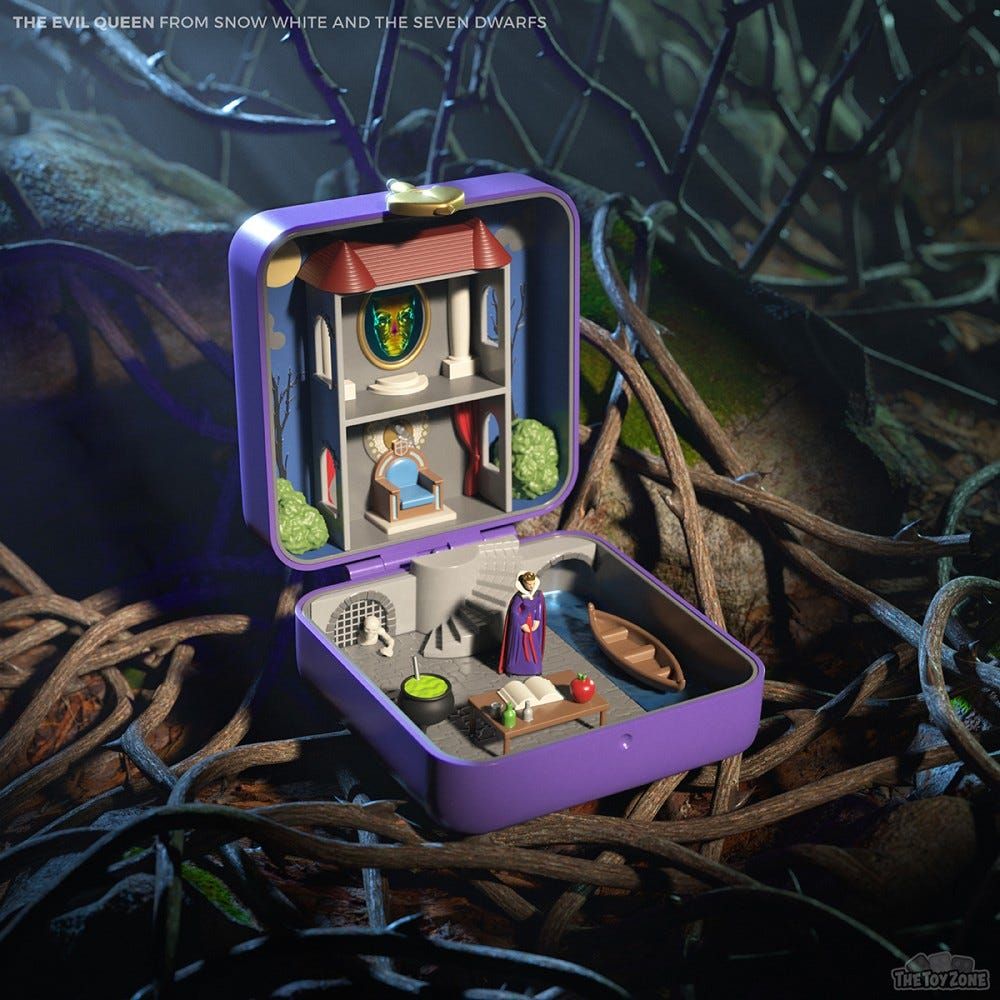 The Toy Zone recreated Disney villain lairs into Polly Pocket homes.