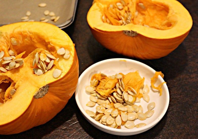 Scooped pumpkin seeds