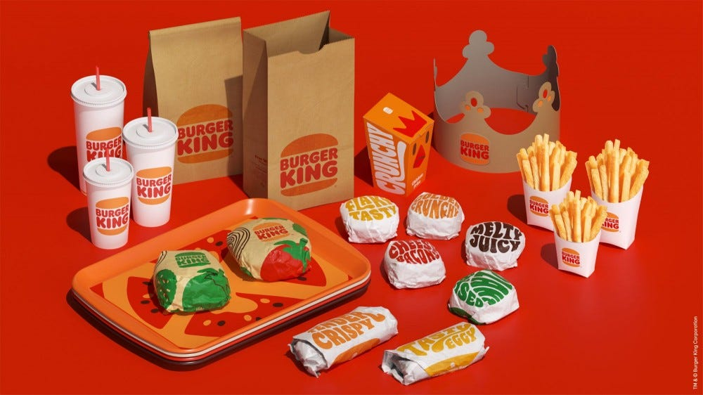 Burger King's new packaging has a vintage '70s vibe.