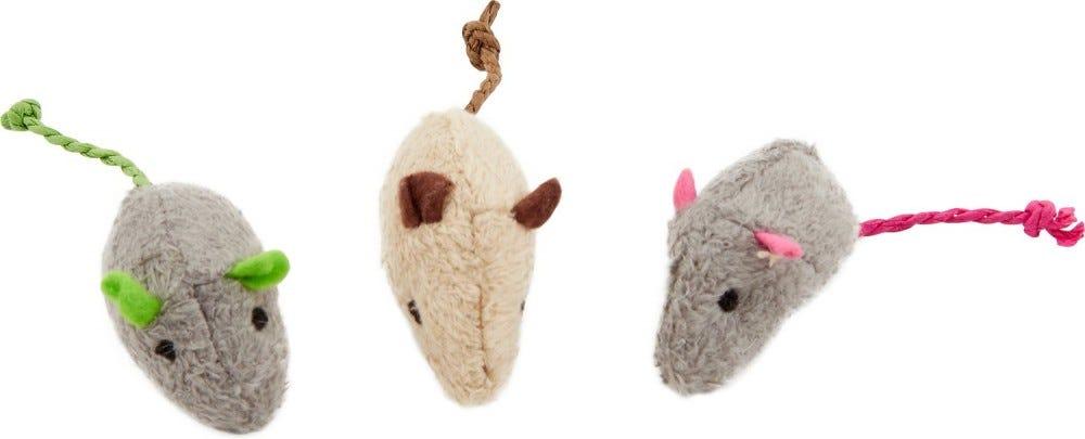 Three catnip mice.