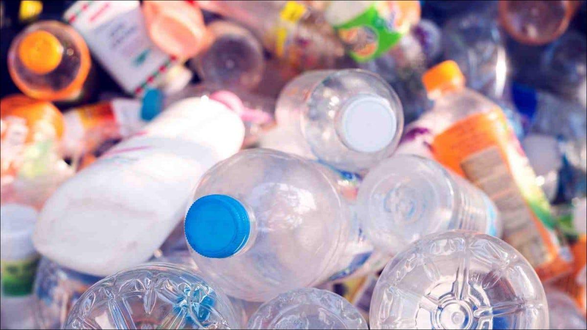 pile of various plastic bottles