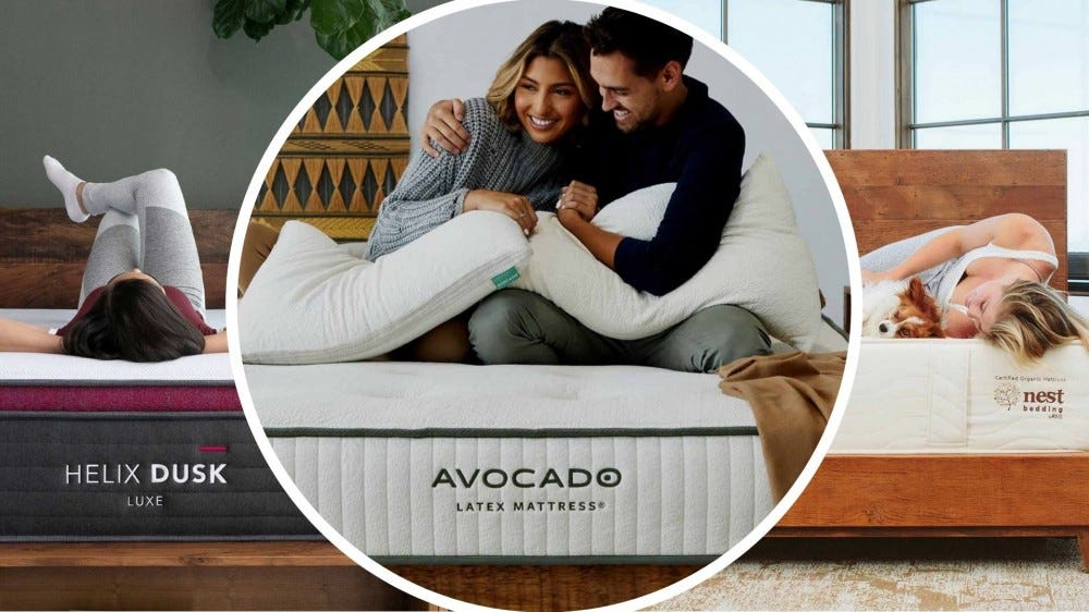 Various mattresses available during the 2021 President's Day sales.