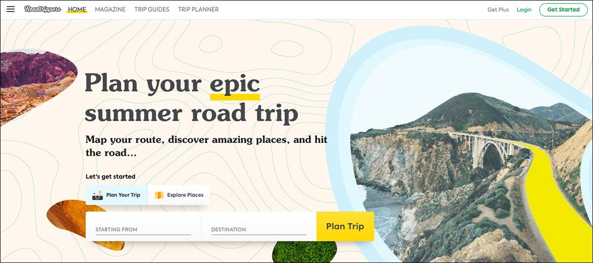 The Roadtrippers website.