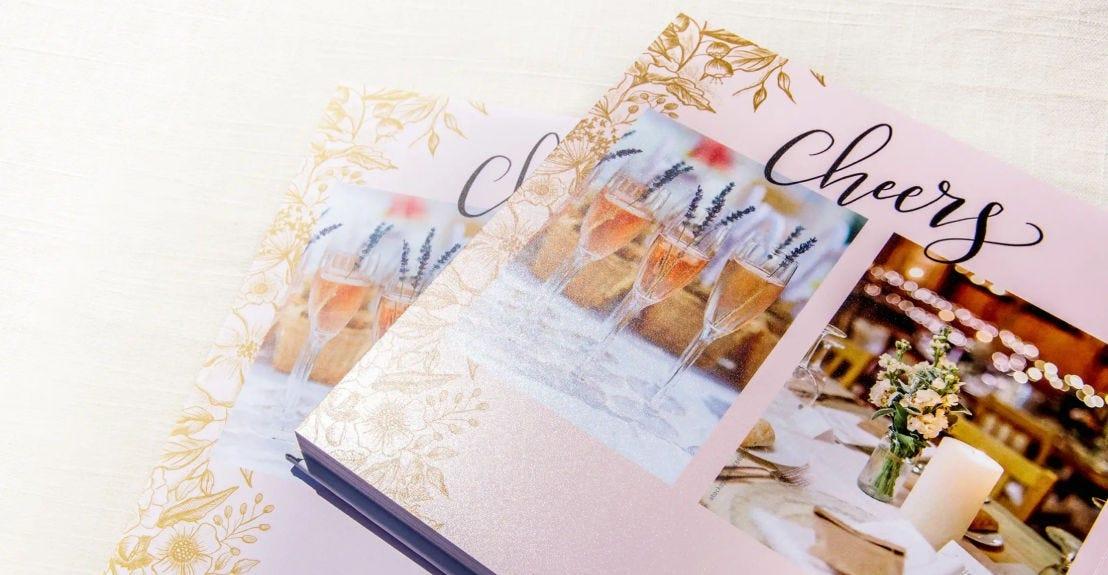example of a Mixbook wedding photo book