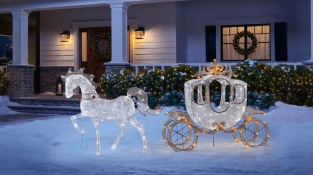You can buy a light-up horse and carriage at home depot.