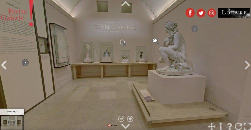 """Az """"D'Artiste ábra"""" kiállítás a Louvre múzeum online turnéján."""