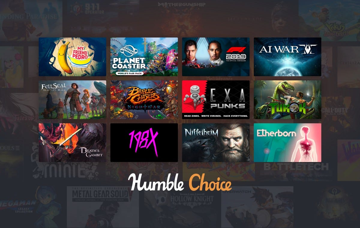 The games available with the March 2020 Humble Bundle.