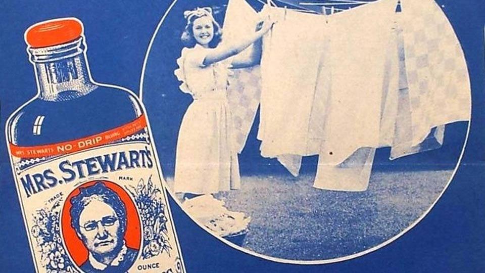 vintage advertisement for Mrs. Stewart's Bluing