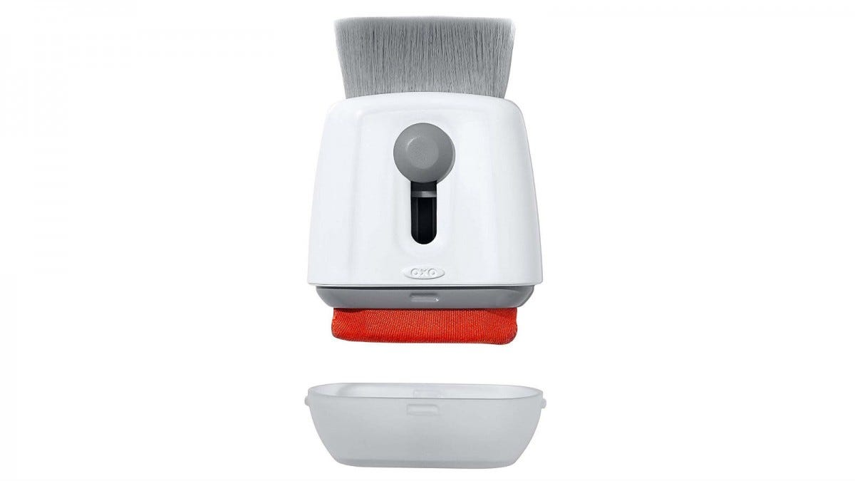The OXO Good Grips Sweep and Swipe Laptop Cleaner.