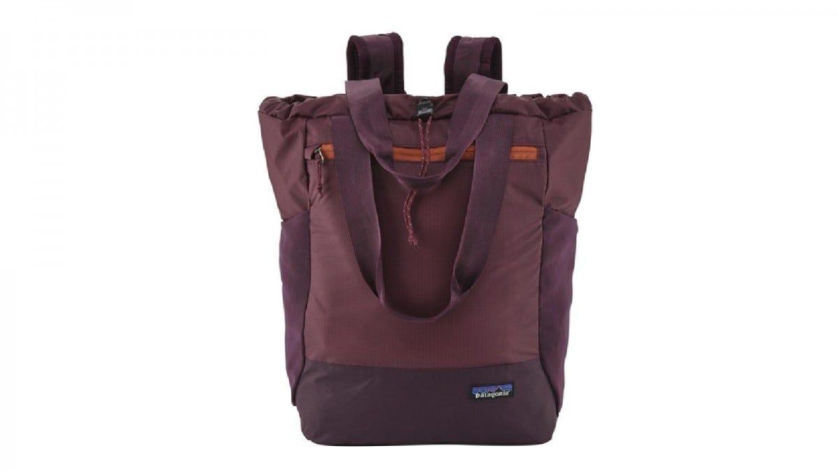 The Patagonia Ultralight Black Hole Tote Pack.
