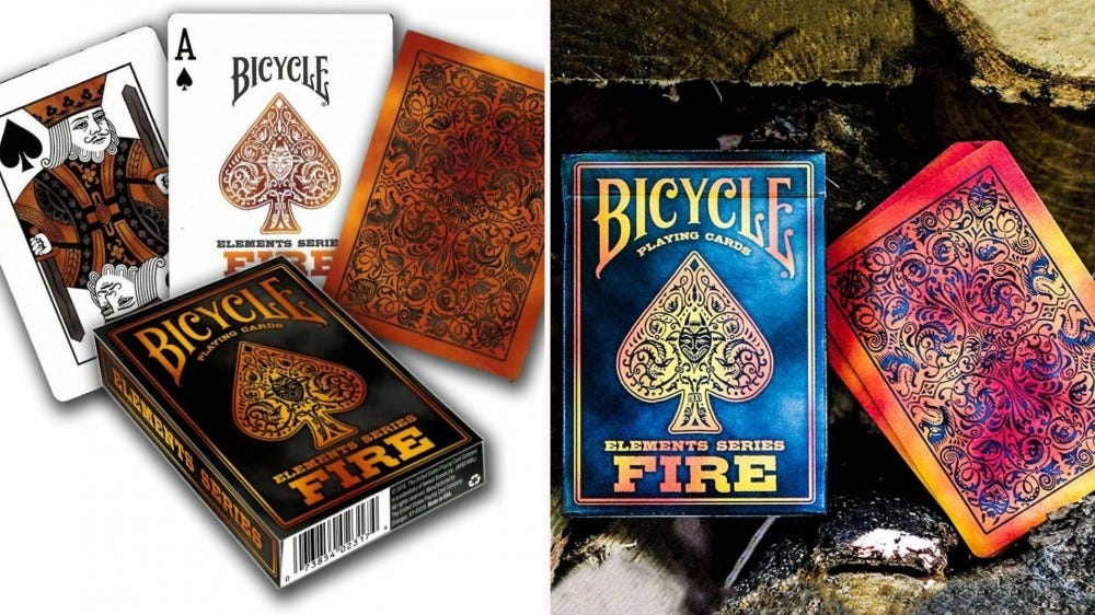 The Fire playing card deck from Bicycle.