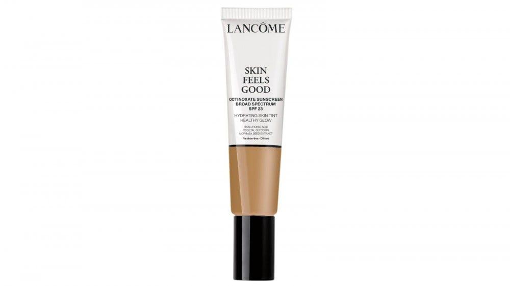 A tube of Lancôme Skin Feels Good Hydrating Skin Tint.