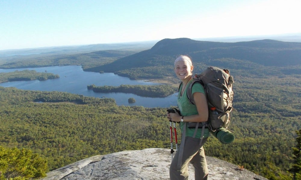 A picture of me, on Barren mountain, on the 100 mile wilderness (Appalachian trail in Maine)