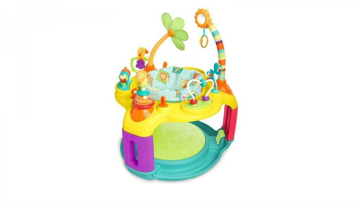 The Bright Starts Springin' Safari Bounce-a-Bout Activity Center.