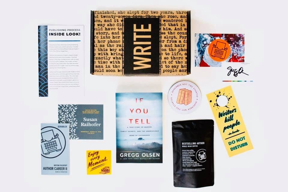 Each Scribbler subscription box holds various writer-oriented goodies.