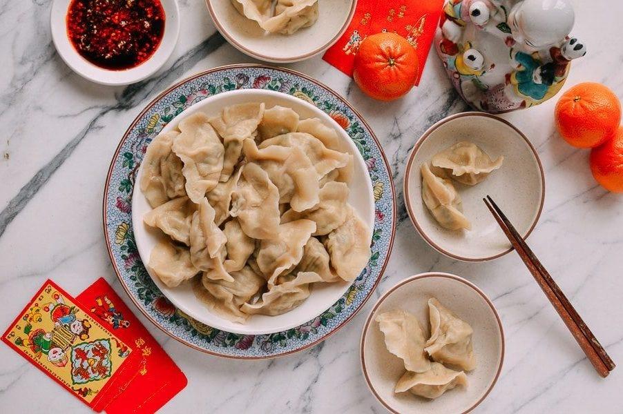 fish and pork Chinese dumplings