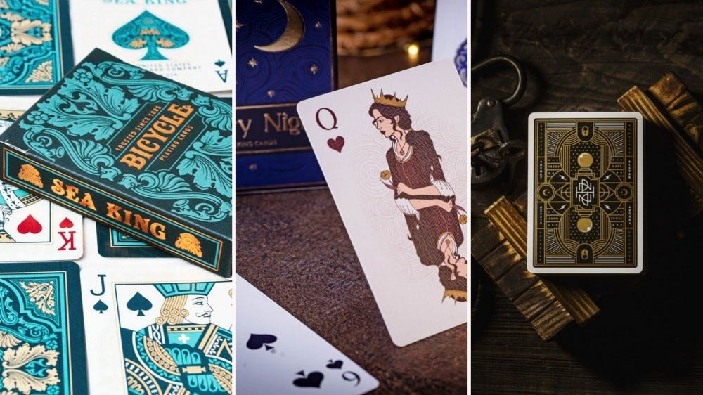 Beautiful luxury playing cards.