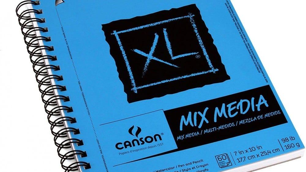 A Mix-Media Canson XL artist notebook.