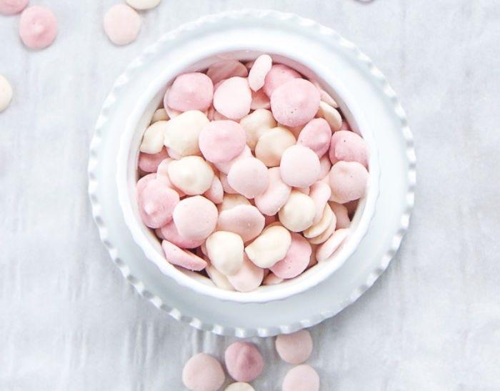 Frozen yogurt melts in a white bowl