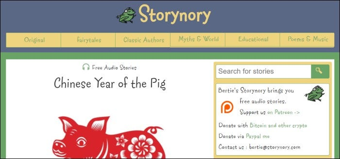 storynory home page