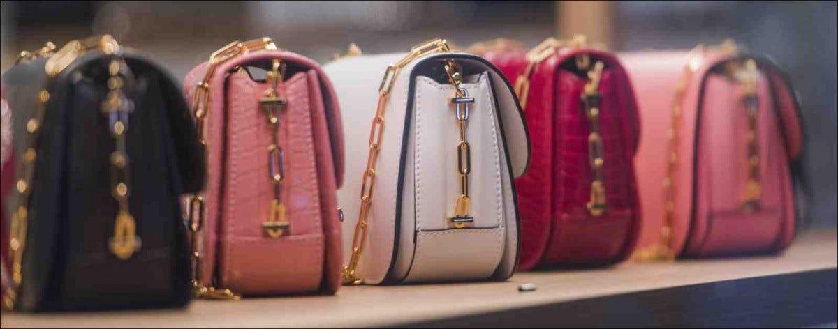 purses on shelf
