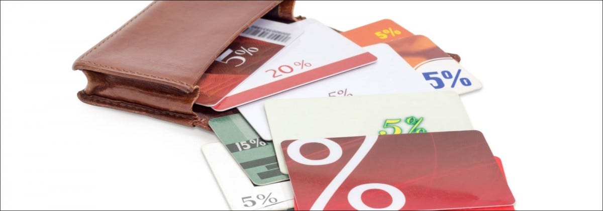 gift cards spilling from wallet