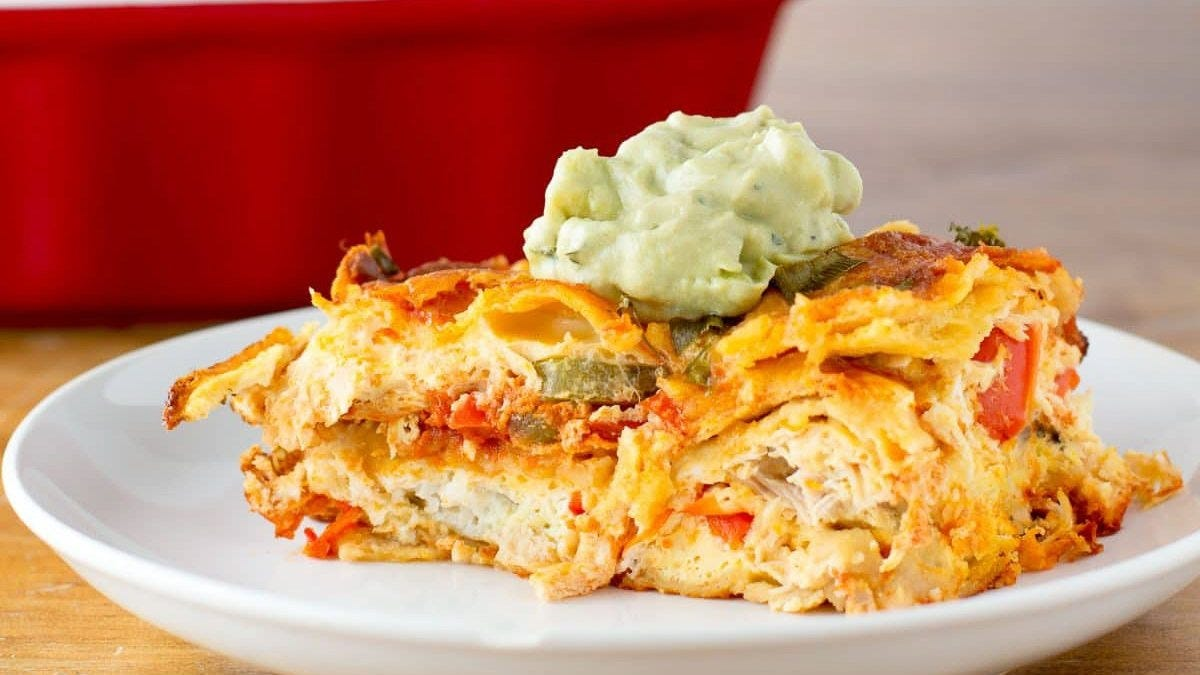 turkey enchilada breakfast bake
