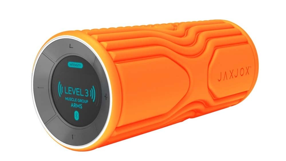 The JAXJOX Smart Roller, showing the screen interface.