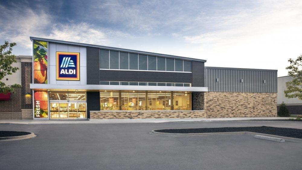 An ALDI storefront.