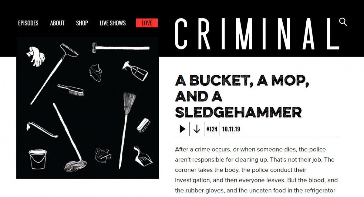 "Description of episode 124 of the ""Criminal"" podcast."