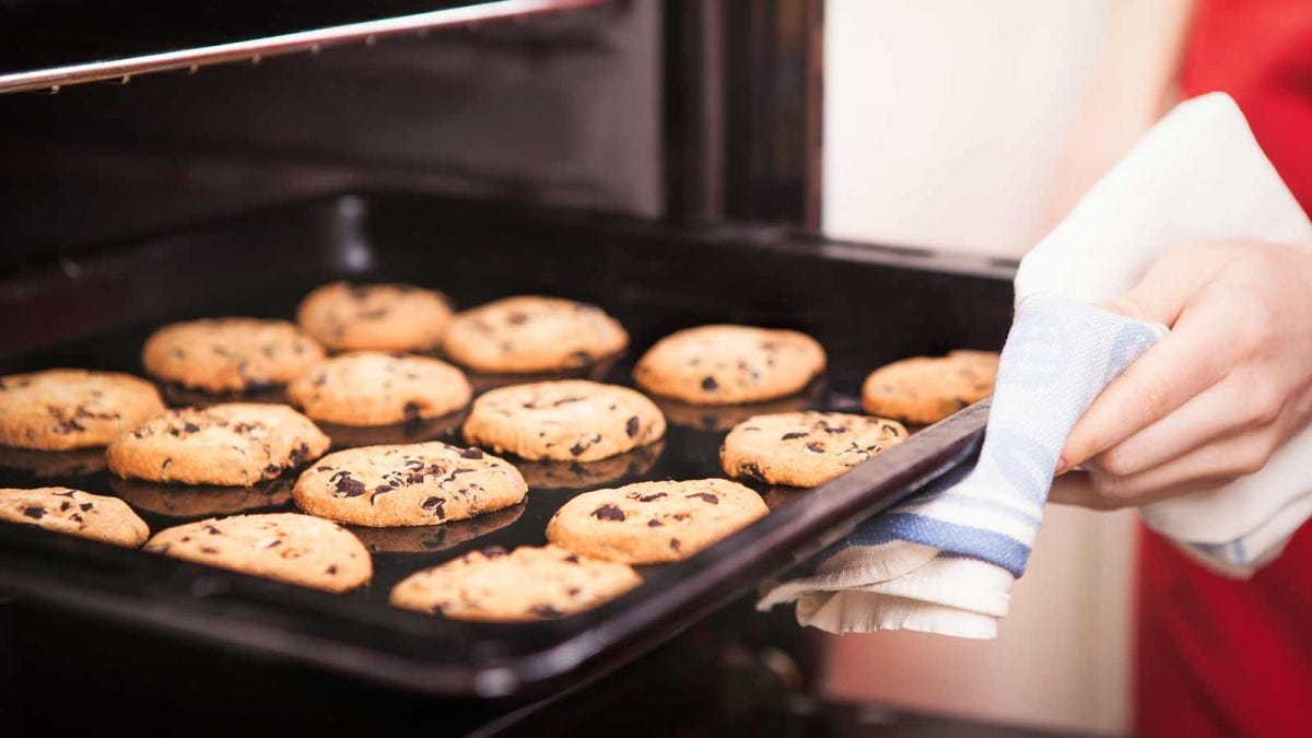 fresh cookies coming out of the oven and filling the house with fragrant baking scents