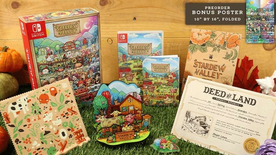 The items that come in the Stardew Valley collector's edition.
