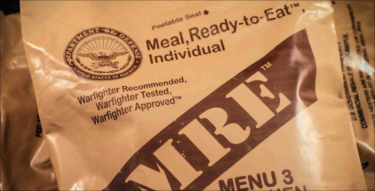 Meal, Ready-to-Eat (MRE) packet