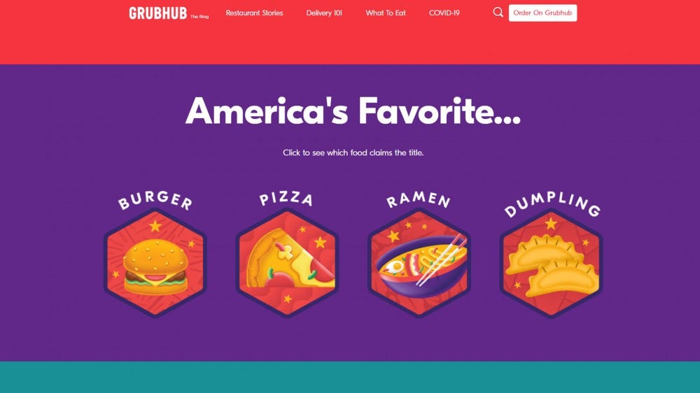 GrubHub reveals the carryout trends of 2020.