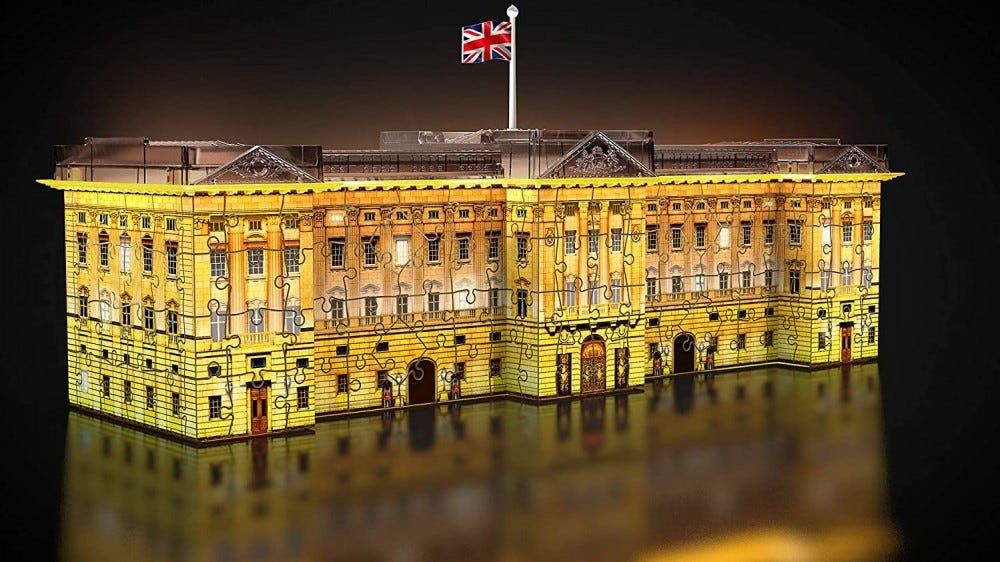 The assembled 3D Puzzle of Buckingham Palace.
