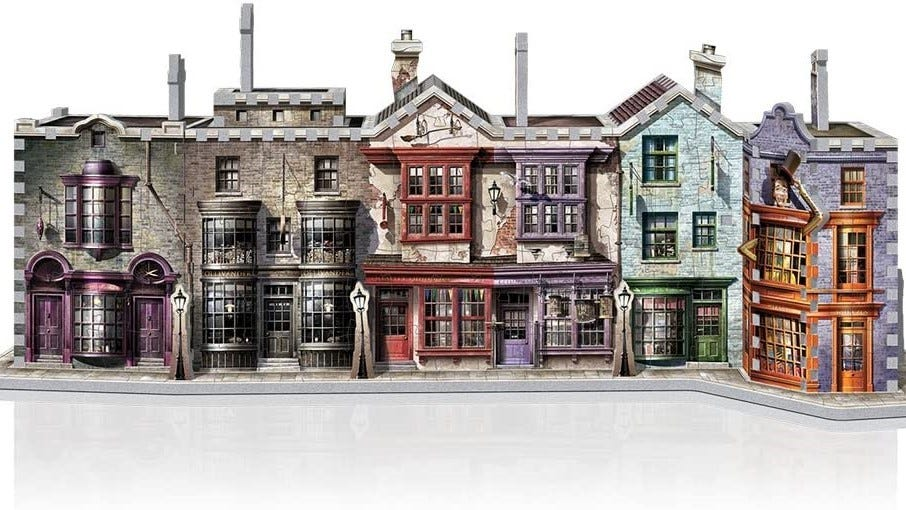 Completed Diagon Alley 3D puzzle.