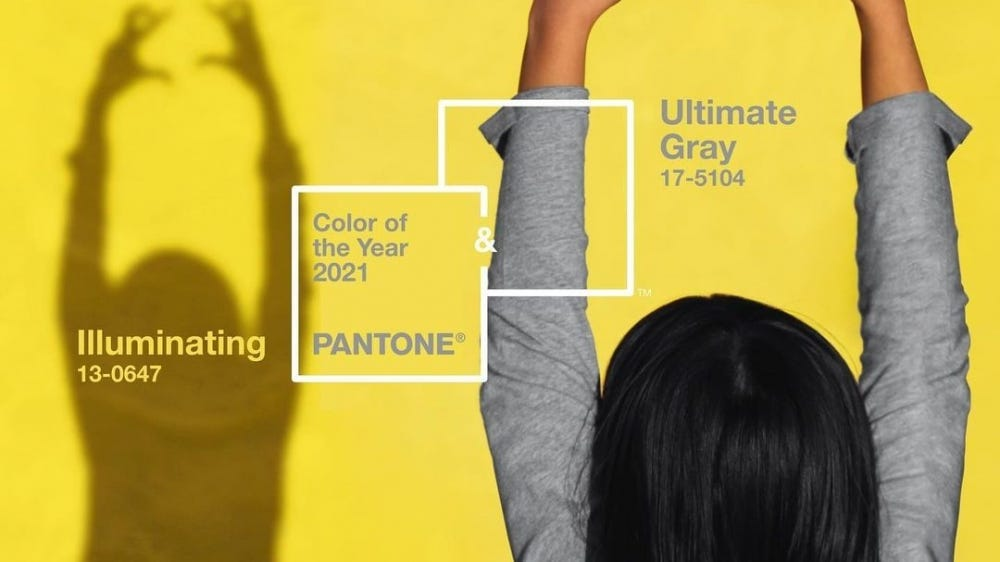 Gray and yellow are the 2021 pantone colors of the year.
