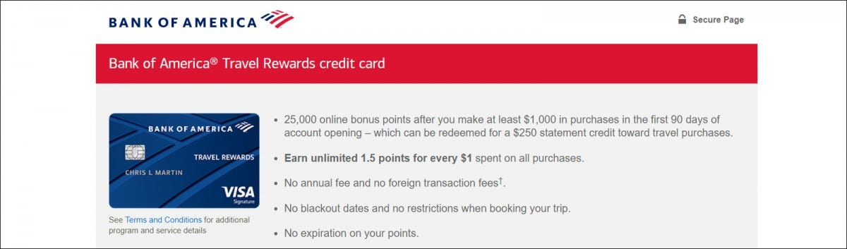 bank of america web site
