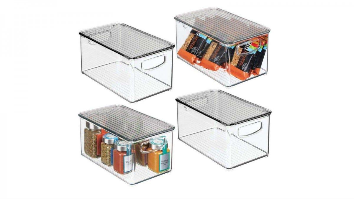 mDesign Plastic Stackable Bin Box