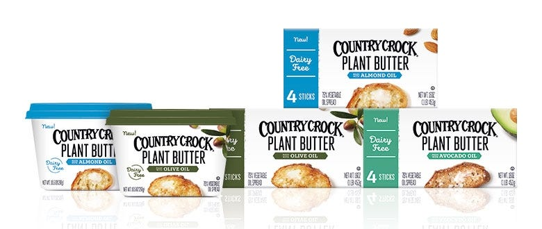 country crock plant based butter tubs